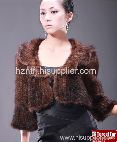 Knitted Mink Fur Waist Coat