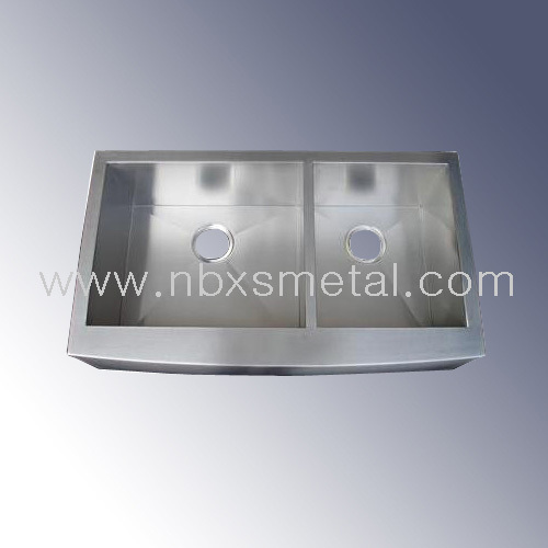 Apron front stainless steel kitchen sink