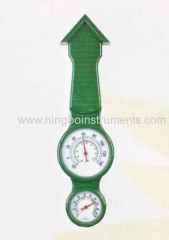 Garden thermometer and hygrometer