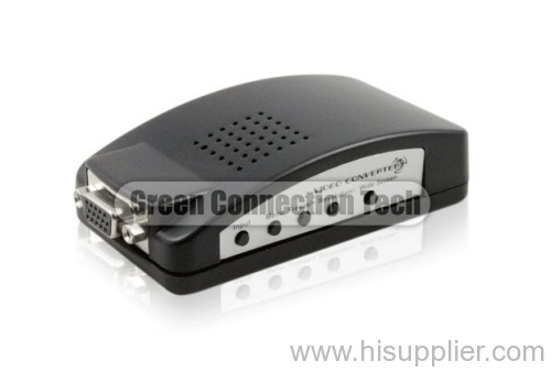 BNC Composite Video and S-Video to VGA converter