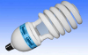 Energy saving lamp compact fluorescent lamp half spiral shape