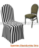 black and white spandex chair cover