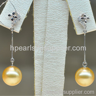 18K A1AA Tahitian /South Sea Pearl Earrings
