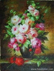still life,flowers,classical oil painting,canvas painting