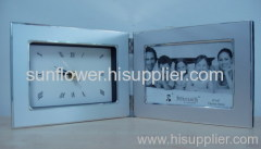 Twin Photo Frame with Clock