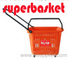 plastic wheel shopping basket