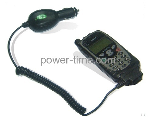 Two way radio battery car charger