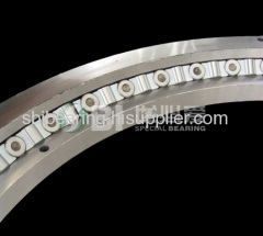 Cross roller slewing ring bearing with no gear