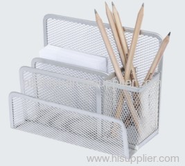 Multi Mesh Metal Pen Holder