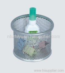 Silver Metal Mesh Clip Holder