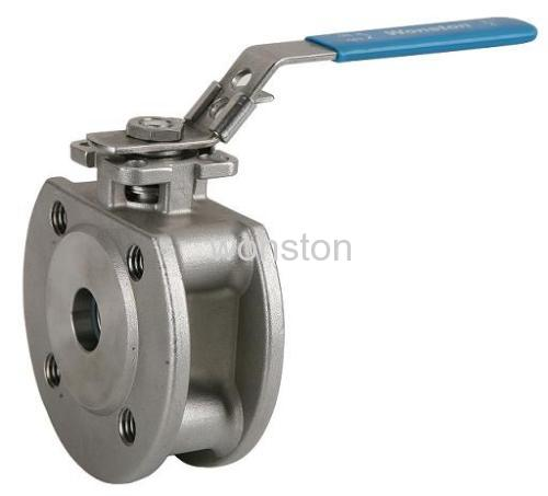 wafer type ball valve ISO direct mounting pad