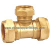 Compression Brass Reducing Tee