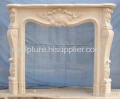 Marble sculpture fireplace
