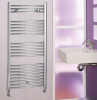 Chrome Curved Heated Towel Rail