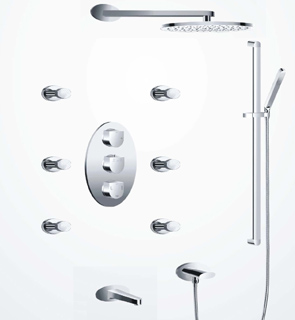 Concealed Thermostatic shower System