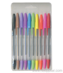 pk 10 colored ball piont pens