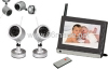 7inch LCD 2.4GHz wireless surveillance AV receiver baby monitoring CCTV system
