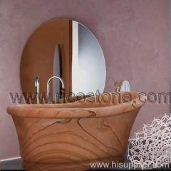 sandstone bathroom stone bathtub