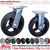 Medium heavy duty casters - Rubber on iron casters - Industrial casters