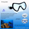 PVC diving mask,2 lens mask,diving glasses,Swimming goggles