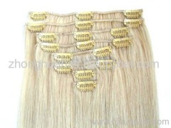 clips hair extension remy human hair