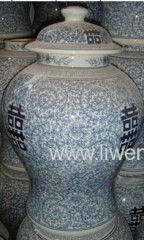 Blue and White porcelain table vase pottery