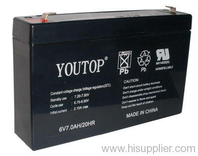 6V7AH lead acid battery