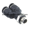 Male Y pneumatic tubing fittings