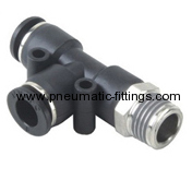 Male Run Tee pneumatic fittings supplier in china Bell prestolock fittings supplier from china