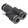 Union Y Plastic tubing fittings