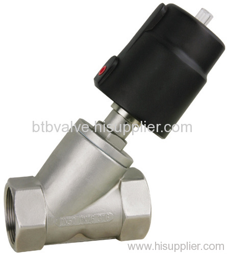 Pneumatic Angle Seat Valve with Aluminum Alloy Actuator