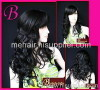 Wave Long Black Hand Made Hair Wig