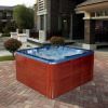 Ocean blue outdoor spa