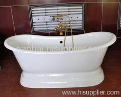 new style enamel iron bath with pedestal