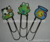 soft PVC frog bookmark/ funny book clip