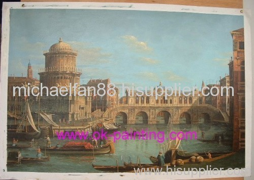 oil painting, scenery oil painting, Venice Building oil painting