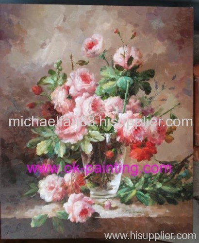 oil painting, flower oil painting, still life oil painting