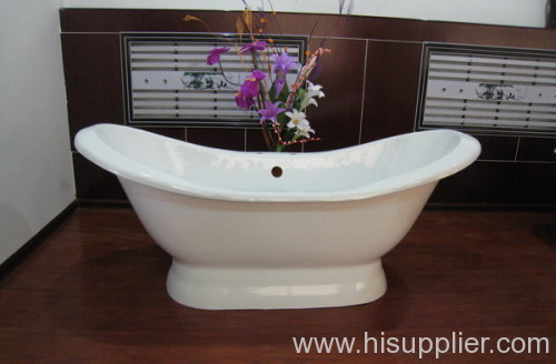 UPC pedestal slipper bathtub
