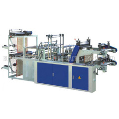 Computer control Two-layer Rolling bag making machine for vest and flat bags