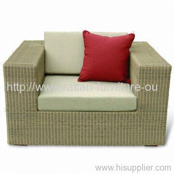 Outdoor round rattan single sofa with 2 person seat