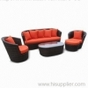 Outdoor wicker sofa group
