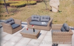 Round wicker furniture sofa group