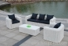 Wicker patio furniture sofa