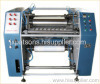 Pre stretching film slitter rewinder machine