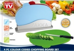 4pc colour chopping board set