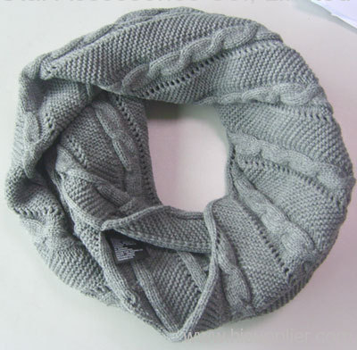 acrylic jacquard knitted snood