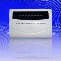 Wireless alarm system with lcd display