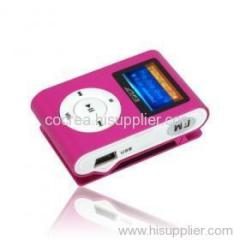 4GB Fashion Deisgn OLED MP3 Player With FM Function /5 Colors Available
