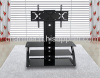 3 Shelves Black Tempered Glass Plasma and LCD TV Stand With TV Brcket CT-FTVS-ND110B