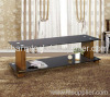 Wood Texture Spray Coated Aluminum LCD Plasma TV Stand